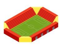 Projeto liso isométrico do estádio de futebol Imagem de Stock Royalty Free