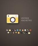Projeto liso moderno do estilo da identidade de marca Imagem de Stock Royalty Free