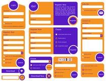 Projeto liso na moda do formulário da Web Fotografia de Stock
