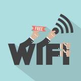 Projeto livre da tipografia de Wifi Imagens de Stock