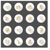 Projeto longo da sombra da Web dos ícones Fotografia de Stock Royalty Free