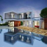 Projeto luxuoso da casa de campo ilustração royalty free