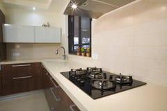 Projeto luxuoso da cozinha Fotos de Stock Royalty Free