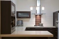 Projeto luxuoso da cozinha Imagens de Stock