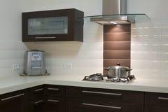 Projeto luxuoso da cozinha Fotos de Stock