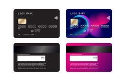 Projeto luxuoso do molde do cartão de crédito Com inspiração do sumário Ilustração do vetor Mockupn do cartão de crédito do crédi ilustração do vetor