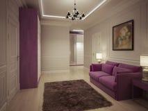 Projeto luxuoso do salão de entrada Fotografia de Stock Royalty Free