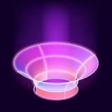Projeto mágico à moda do vetor do efeito Fundo virtual do sumário do brilho da beleza Foto de Stock Royalty Free