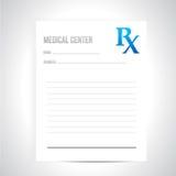 Projeto médico da ilustração da prescrição Imagens de Stock Royalty Free