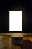 Projeto mínimo Clipp isolado branco de Art Museum Frame Wall Ornate imagem de stock royalty free