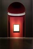 Projeto mínimo Clipp isolado branco de Art Museum Frame Wall Ornate fotografia de stock royalty free