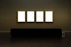 Projeto mínimo Clipp isolado branco de Art Museum Frame Wall Ornate imagens de stock royalty free