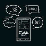 projeto móvel do bate-papo Imagem de Stock