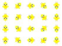Projeto maravilhoso do fundo criado de muitos pintainhos amarelos pequenos ilustração stock