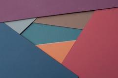 Projeto material colorido dos cartões do cartão Foto de Stock Royalty Free