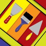Projeto material das ferramentas da construção Imagem de Stock Royalty Free