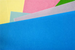 Projeto material em papéis coloridos Foto de Stock Royalty Free