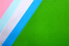 Projeto material em papéis coloridos Imagens de Stock