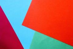 Projeto material em papéis coloridos Fotos de Stock Royalty Free