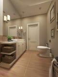 Projeto mediterrâneo do banheiro Fotografia de Stock
