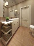 Projeto mediterrâneo do banheiro Imagem de Stock