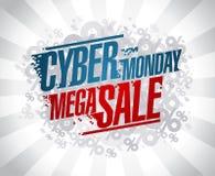 Projeto mega da venda de segunda-feira do Cyber Fotos de Stock