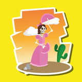 Projeto mexicano da cultura, ilustração do vetor Ícones de México Imagens de Stock