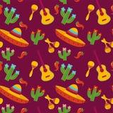 Projeto mexicano da ilustração do vetor do teste padrão Fotografia de Stock