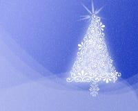 Projeto modelado da árvore do Xmas do fundo do Natal ilustração do vetor
