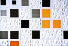 Projeto modelado quadrado com a parede da textura 3D Imagem de Stock Royalty Free