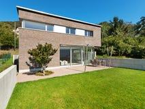 Projeto moderno da arquitetura, casa Foto de Stock