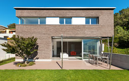 Projeto moderno da arquitetura, casa Imagem de Stock Royalty Free
