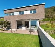 Projeto moderno da arquitetura, casa Imagens de Stock