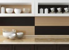 Projeto moderno da cozinha Foto de Stock