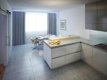 Projeto moderno da cozinha Fotografia de Stock Royalty Free