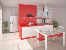 Projeto moderno da cozinha Ilustração do Vetor