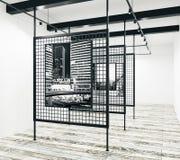 Projeto moderno da galeria Imagens de Stock Royalty Free
