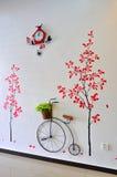 Projeto moderno da parede Imagens de Stock