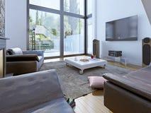 Projeto moderno da sala de estar Fotos de Stock