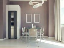 Projeto moderno da sala de jantar Fotografia de Stock Royalty Free