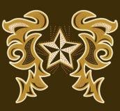 Projeto moderno de Rockstar, t-shirt - projeto do revestimento com pontos e rebites Imagens de Stock Royalty Free