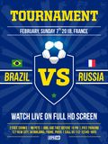 Projeto moderno do inseto dos esportes profissionais com liga de futebol no tema azul Fotos de Stock Royalty Free
