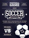 Projeto moderno do inseto dos esportes profissionais com liga de futebol no tema azul Imagem de Stock
