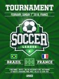 Projeto moderno do inseto dos esportes profissionais com liga de futebol no tema verde Imagens de Stock