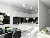 Projeto moderno do interior Foto de Stock