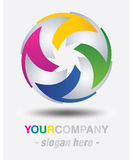 Projeto moderno do logotipo Imagens de Stock