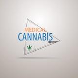Projeto moderno do logotipo do sinal dos cannanis médicos abstratos ilustração stock