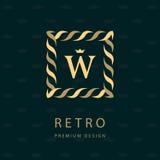 Projeto moderno do logotipo Molde geométrico do monograma Emblema W da letra Mark da distinção Sinal universal do negócio para a  Imagem de Stock Royalty Free