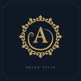 Projeto moderno do logotipo Molde inicial geométrico do monograma Emblema A da letra Mark da distinção Sinal universal do negócio Imagem de Stock Royalty Free