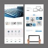 Projeto moderno do molde do Web site Foto de Stock Royalty Free